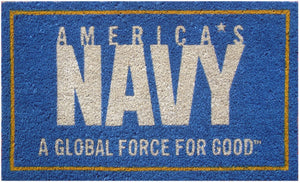 S&D US Navy Coir Door Mat - Back40Trading2