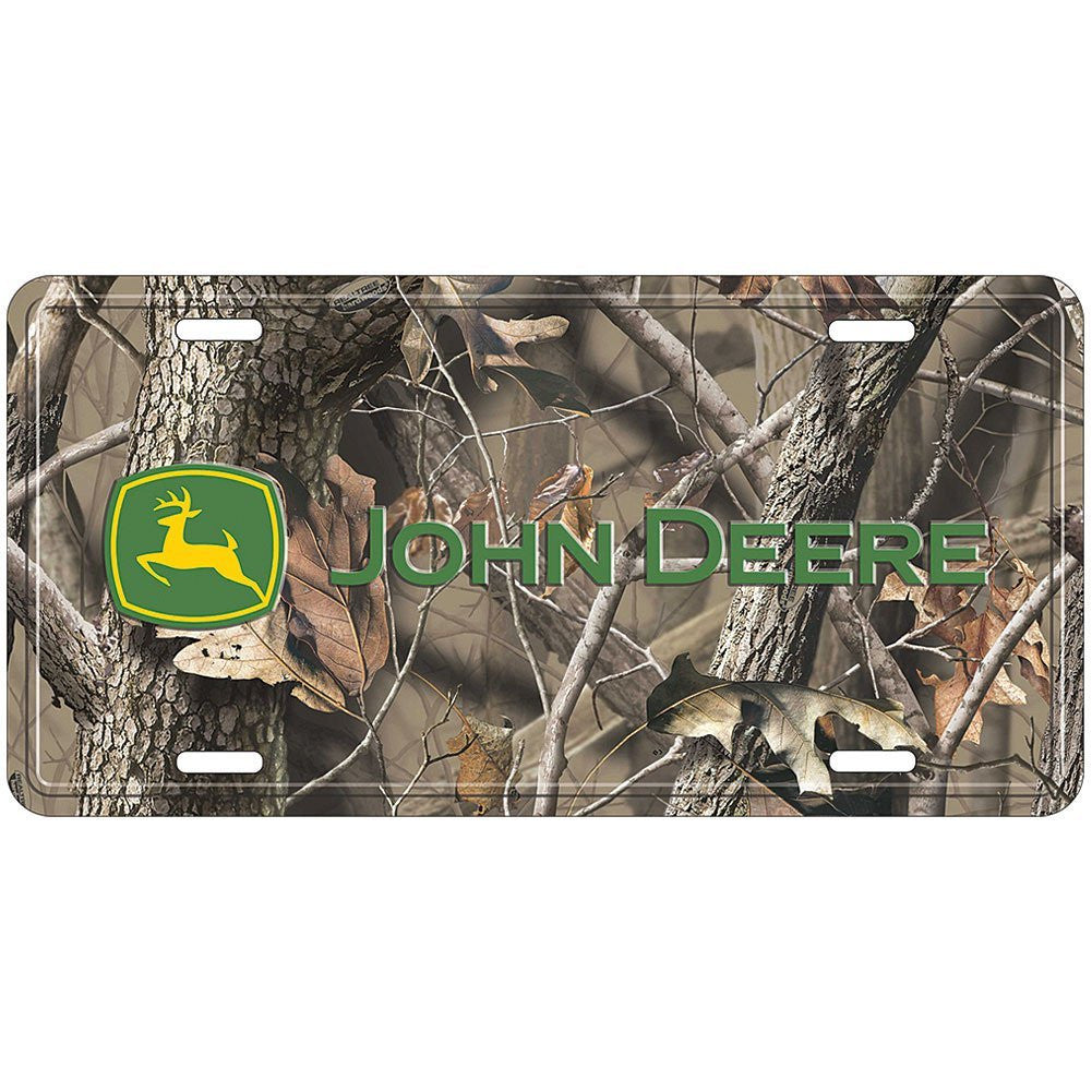 John Deere Realtree Design Camo Car Truck Auto License Plate Aluminum Tag