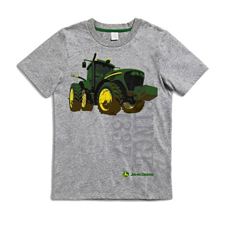 John Deere Tractor Youth T-Shirt Gray - Back40Trading2