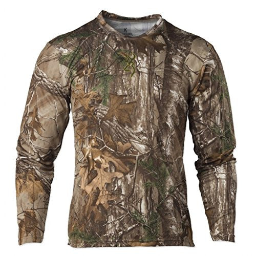 Browning Mens Wasatch Vapor Max Long Sleeve Shirt,Realtree Xtra
