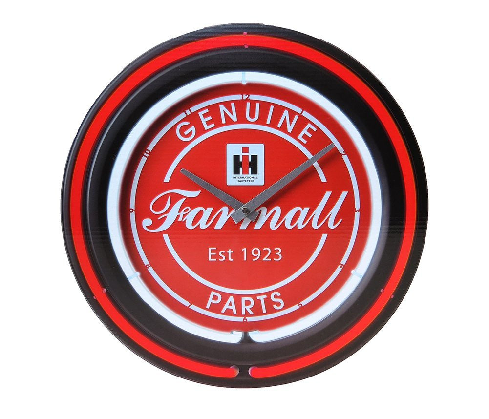 IH Genuine Farmall Parts 15 Inch Double Neon Wall Clock