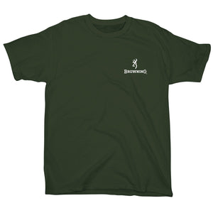Browning Men's Buckmark Mossy Oak Country Camo T-shirt Olive - Back40Trading2  - 2