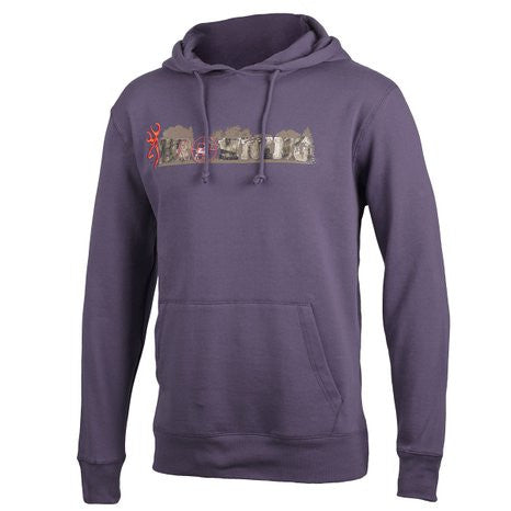 Browning Men's Burke Hoodie Sweatshirt Nine Iron Charcoal - Back40Trading2