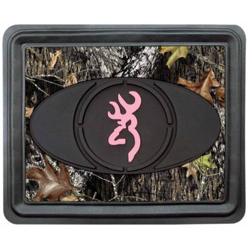 Browning Arms Company Pink Buckmark Brand Camo Logo Rear Seat Utility Heavy Duty Trim-to-Fit Rubber Floor Mat - SINGLE - Back40Trading2