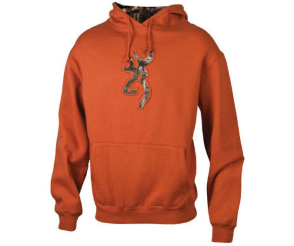 Browning Men's Buckmark Mossy Oak Logo Hooded Sweatshirt