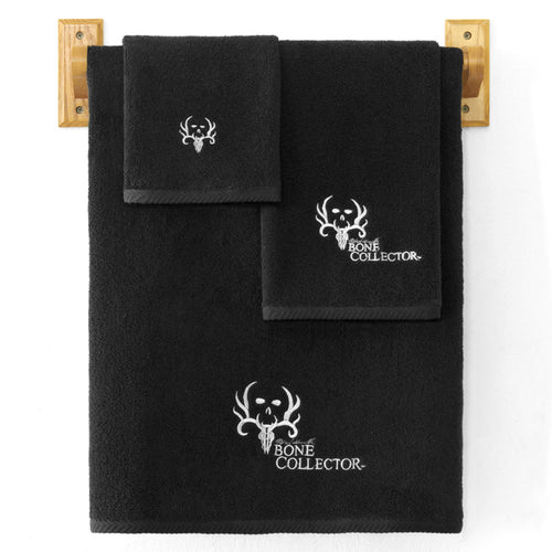 Bone Collector Black Hand Towel - Back40Trading2