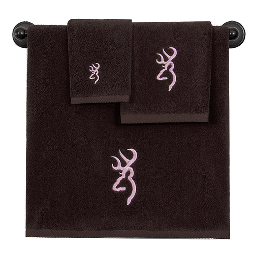 Browning Buckmark Hand Towel Dark Brown - Back40Trading2