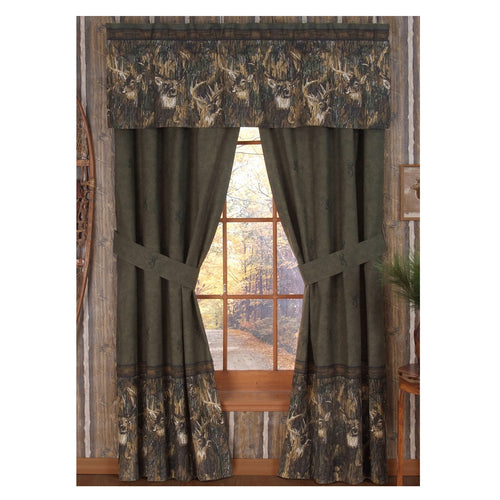 Browning Whitetails Rod Pocket Curtains - Back40Trading2