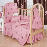Buckmark Pink Crib Sheet and Pillowcase - Back40Trading2