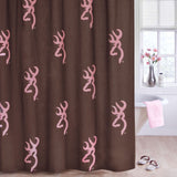 Buckmark Pink Shower Curtain - Back40Trading2