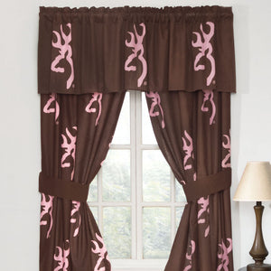 Buckmark Pink Rod Pocket Curtains - Back40Trading2
