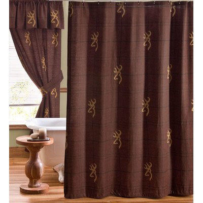 Buckmark Cotton Shower Curtain - Back40Trading2