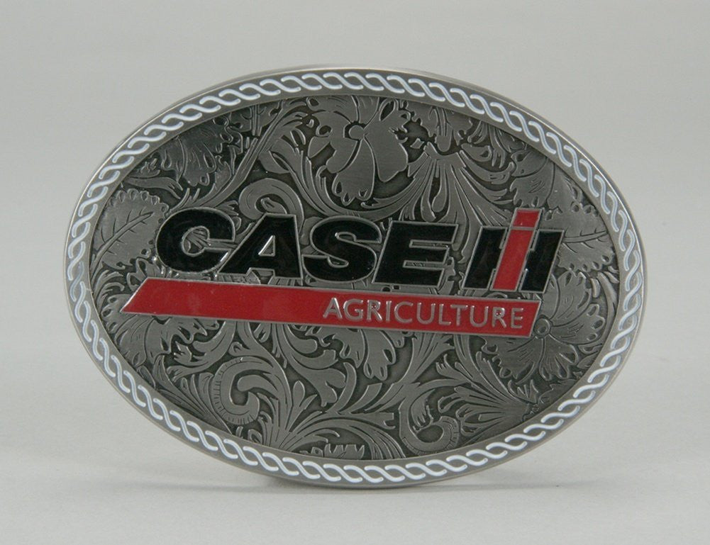 Case IH Logo Western Style Belt Buckle - Back40Trading2