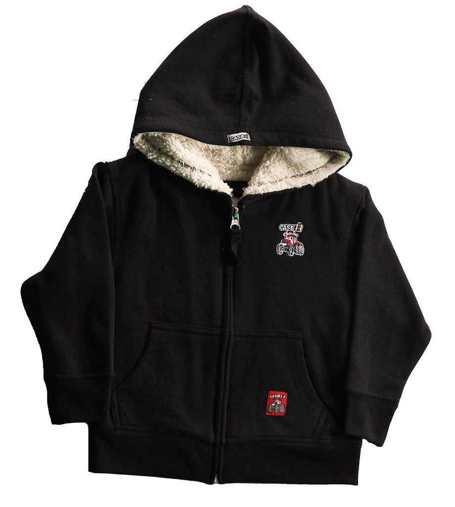 Case IH Little Boy's Zip-Up Sherpa Hoodie