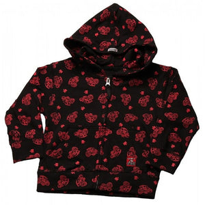 Case IH Zip Front Hooded Sweatshirt With All Over Tractors Print, Toddler and Infant - Back40Trading2  - 1