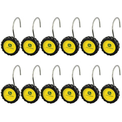 John Deere 12 Count Tire Shower Curtain Rings - Back40Trading2