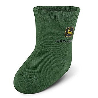 John Deere Basic Green Infant Cotton Socks - Back40Trading2