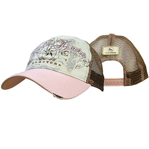 John Deere Ladies Tractors and Stars Mesh Hat White - Back40Trading2