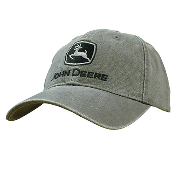 John Deere Men's Low Profile Embroidered Heather Canvas Hat - Back40Trading2