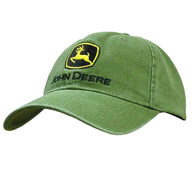 John Deere Men's Low Profile Embroidered Canvas Hat - Back40Trading2