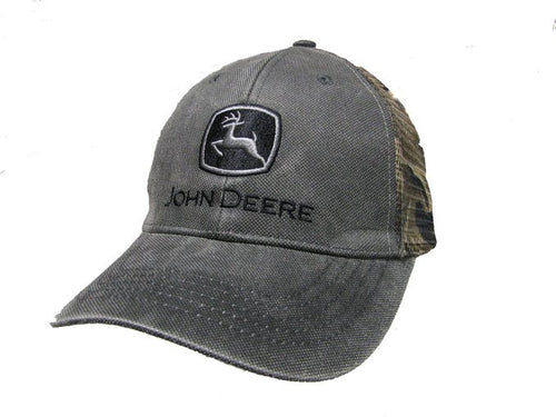 John Deere Men's Waxed Cotton Mesh Back Cap - Back40Trading2