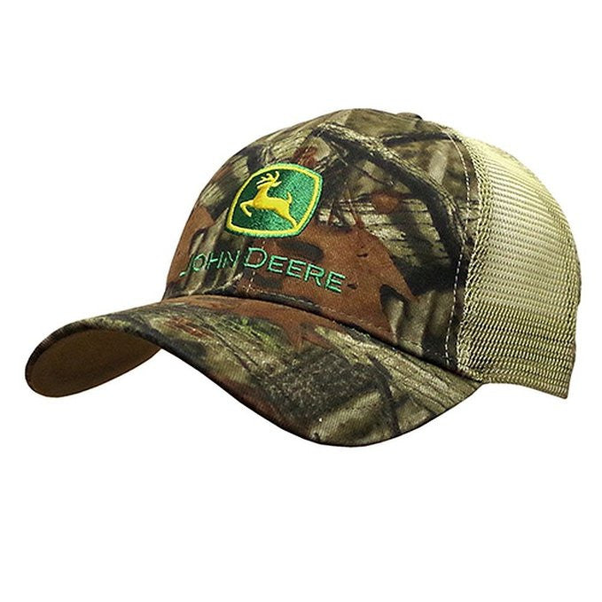 John Deere Mesh Back Mossy Oak Hat Green