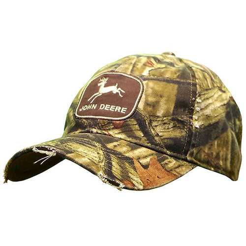 John Deere Vintage Distressed Mossy Oak Hat - Back40Trading2