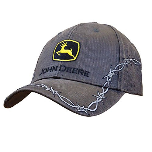 John Deere Waxed Canvas with Barbed Wire Hat - Back40Trading2