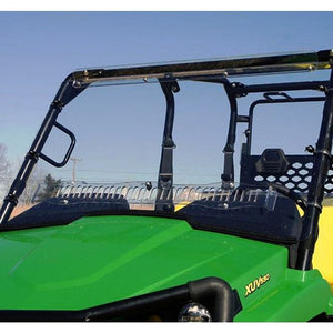 "Full Length ""Aero-Vent"" 1/4"" Lexan Windshield for John Deere Gator XUV 550, 550 S4, & 850i - Back40Trading2"