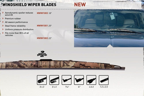 Mossy Oak Camo Windshield Wiper 22 inch - Back40Trading2