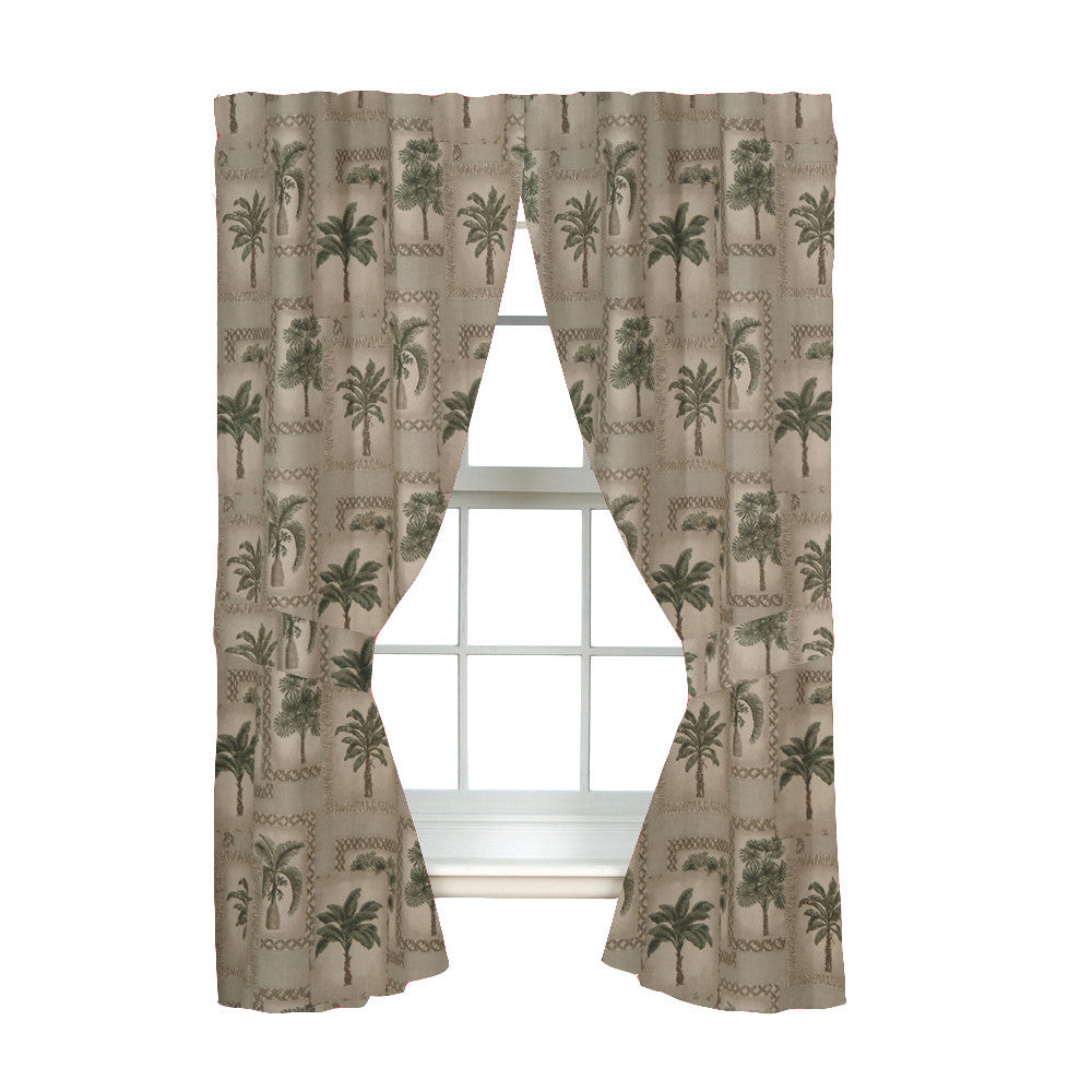 Palm Grove Rod Pocket Curtains - Back40Trading2