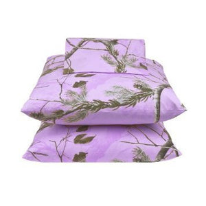 Realtree AP Lavender Camo 4 Pc FULL Size Housewares and Bedding - Back40Trading2