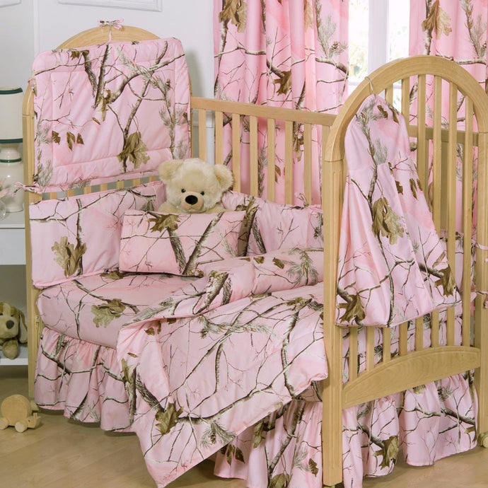 Realtree AP Pink Crib 3-Piece Set - Back40Trading2