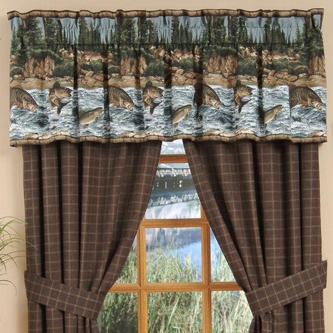 River Fishing Rod Pocket Curtains - Back40Trading2