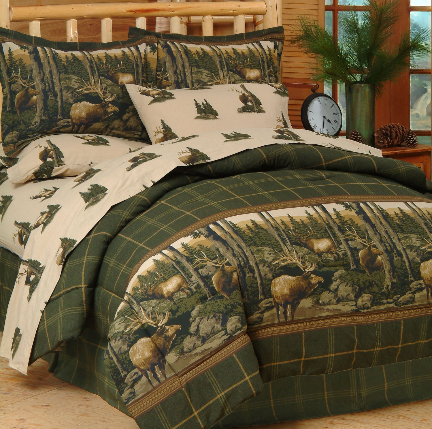 Rocky Mountain Elk Complete Bedding Set  Twin - Back40Trading2