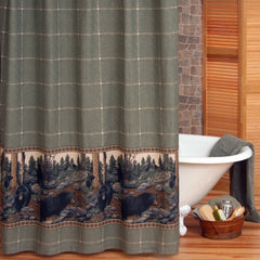 The Bears Shower Curtain - Back40Trading2