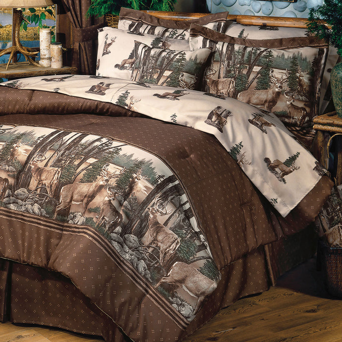Whitetail Dreams Sheet Set  King - Back40Trading2