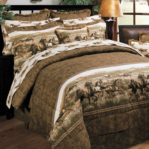 Wild Horses Comforter Set  King - Back40Trading2
