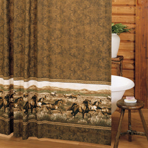 Wild Horses Shower Curtain - Back40Trading2