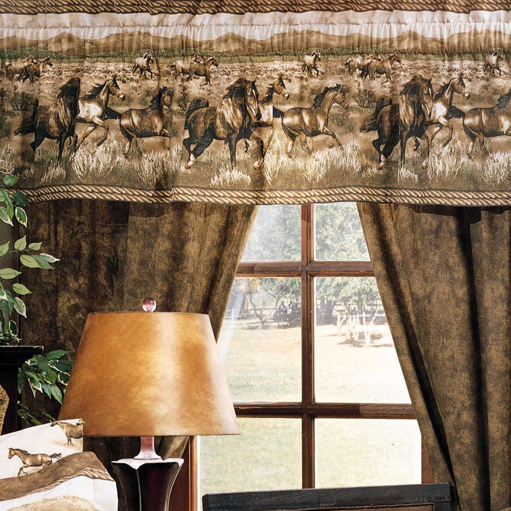 Wild Horses Rod Pocket Curtains