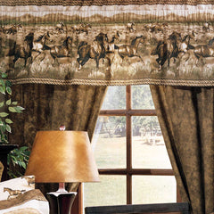 Wild Horses Rod Pocket Curtains - Back40Trading2