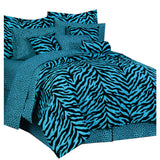 Zebra Blue Complete Bedding Set  Twin - Back40Trading2