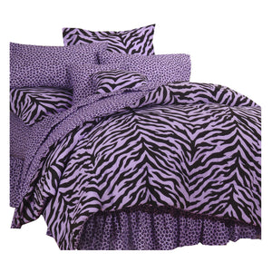 Zebra Lavender Complete Bedding Set  Full - Back40Trading2