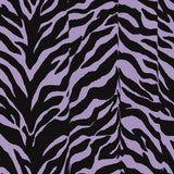 Zebra Lavender Shower Curtain - Back40Trading2