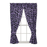 Zebra Lavender Rod Pocket Curtains - Back40Trading2