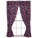 Zebra Pink Rod Pocket Curtains - Back40Trading2