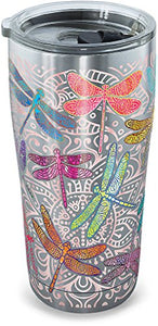 Tervis Stainless Steel Dragonfly Mandalas 20 oz. Tumbler with Lid- Back40Trading2