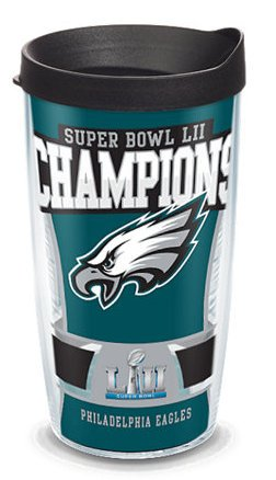 Tervis Philadelphia Eagles Super Bowl 52 Champions 16oz Wrap with Lid- Back40Trading2