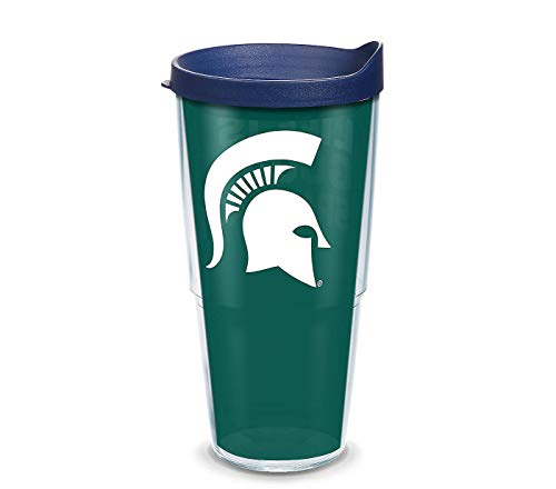 Tervis Michigan State Spartans Insulated Tumbler with Wrap and Navy Lid, 24oz,