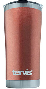 Tervis 20 Ounce Powder Coated Stainless Steel Collection Rose Gold Tumbler